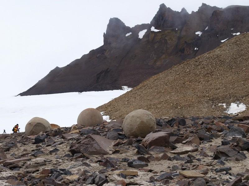 Champ Island Stone Spheres - bleak