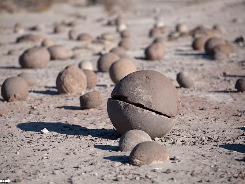 Champ Island Stone Spheres - weathered