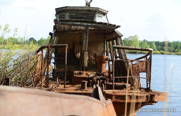 Chernobyl Belarus - abandoned boat