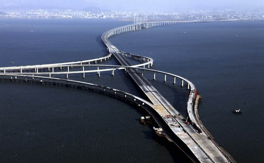 Danyang kunshan grand bridge the longest in the world for World s coolest bridges