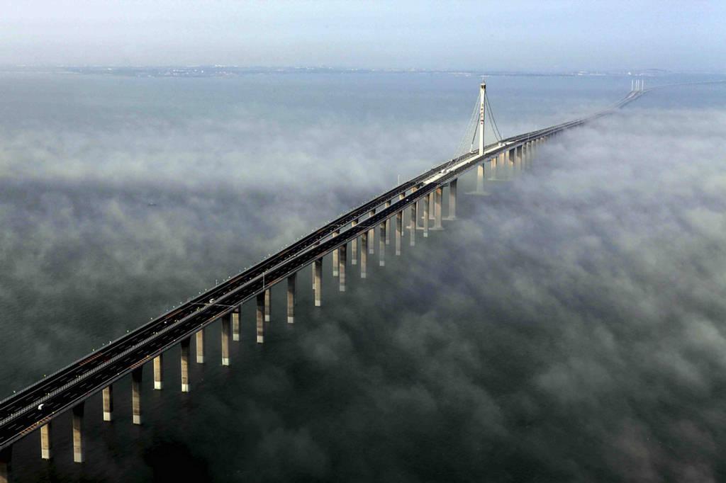 Danyang–Kunshan Grand Bridge - mist