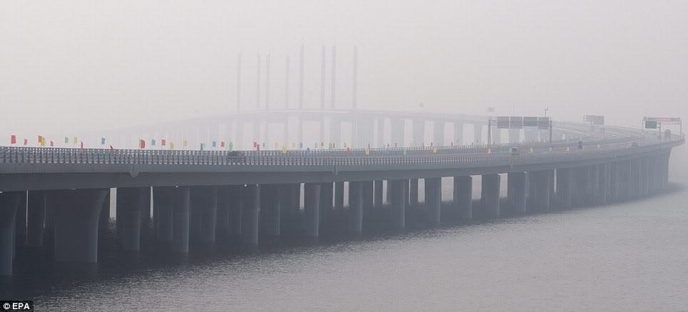 Danyang–Kunshan Grand Bridge - smog