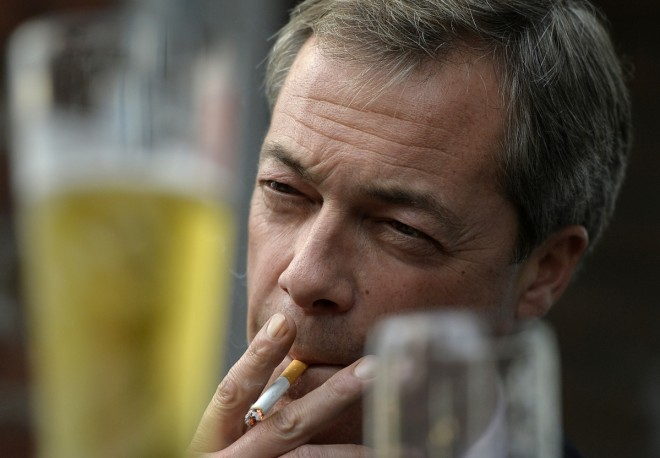 Dont Vote Ukip - farage smokin cigarette