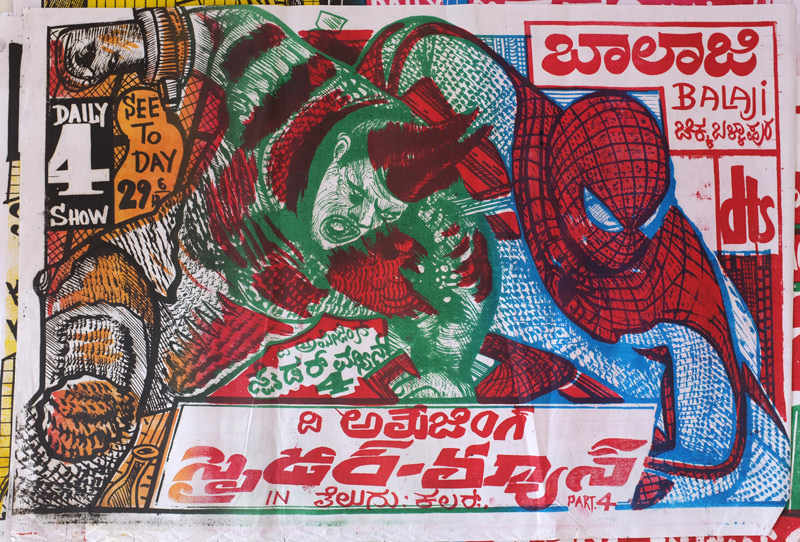 Indian Horror - Hand Drawn - Ramachandraiah Spiderman
