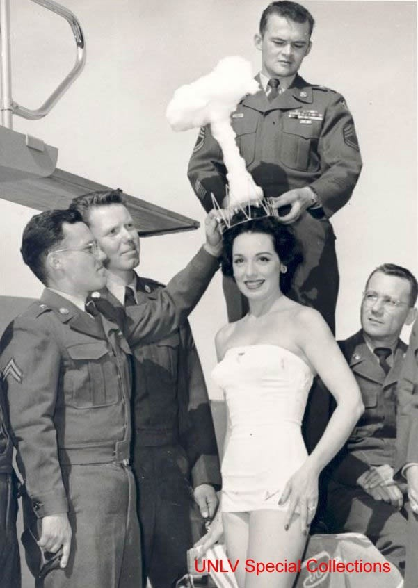 Interesting Old Photos Rare - Miss Atomic Bomb Pageant 1950s