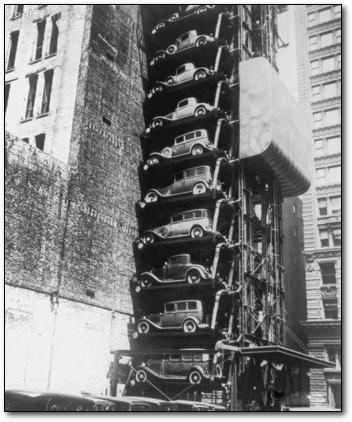 Interesting Old Photos Rare - Model T Elevator Garage 1936
