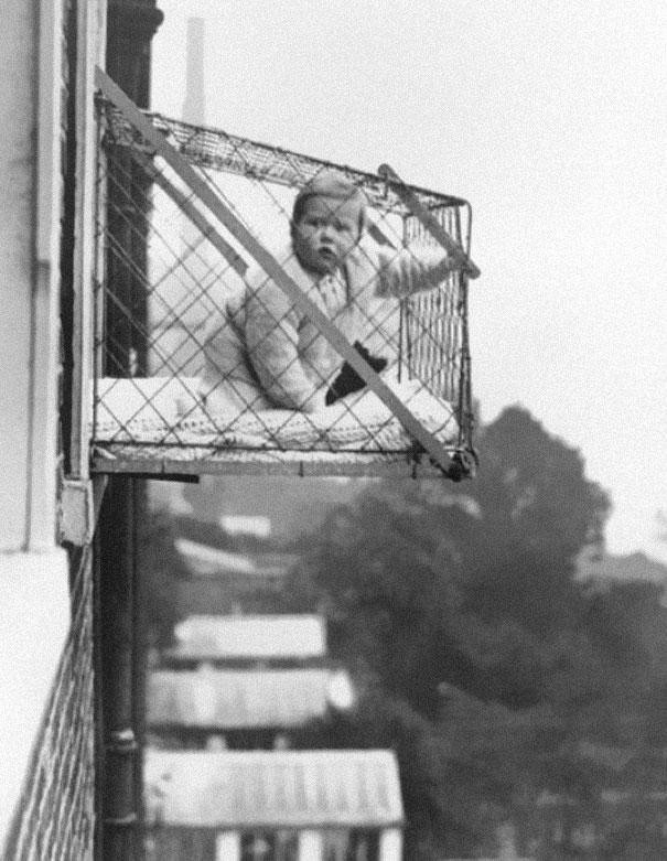 Interesting Old Photos Rare - baby cages 1930s