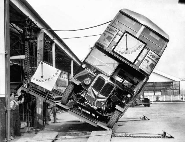 Interesting Old Photos Rare - double decker 1930s