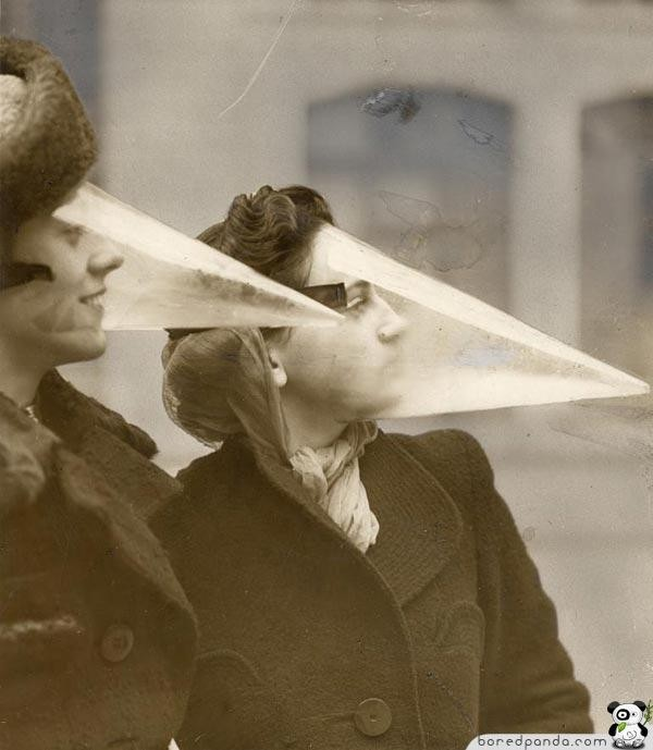 Interesting Old Photos Rare - face cones 1939