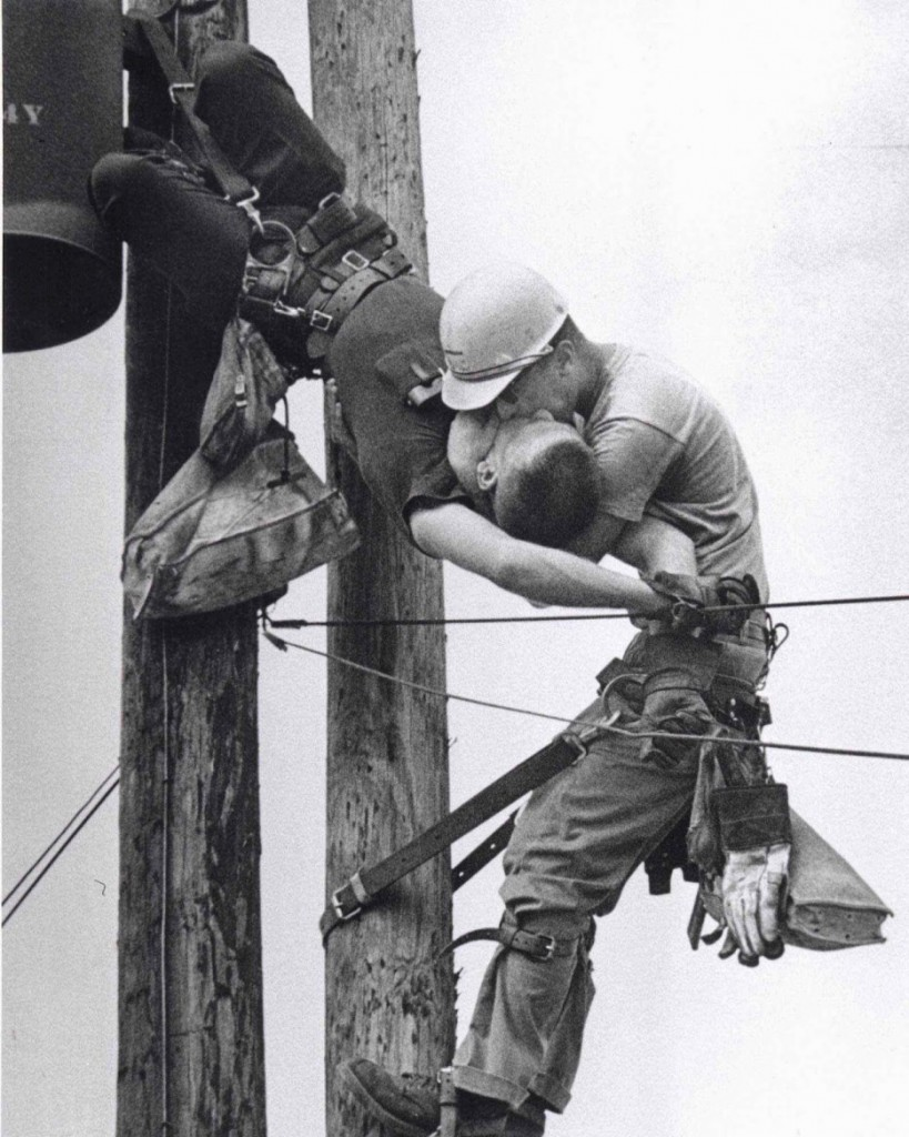 Interesting Old Photos Rare - utility worker mouth to mouth 1967