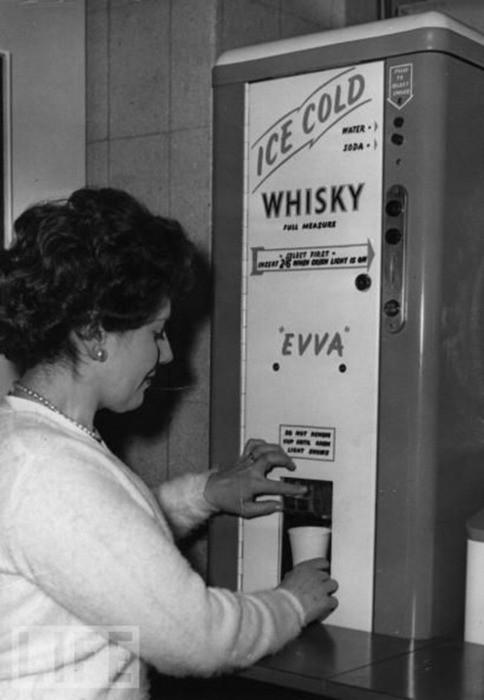 Interesting Old Photos Rare - whisky dispenser 1950s
