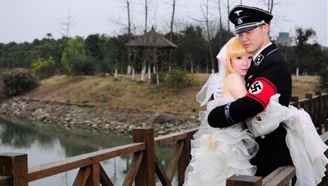 Korean Nazi Chic Fashion - Wedding Photo