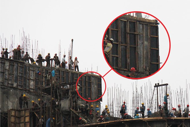North Korea - Construction accident - Support
