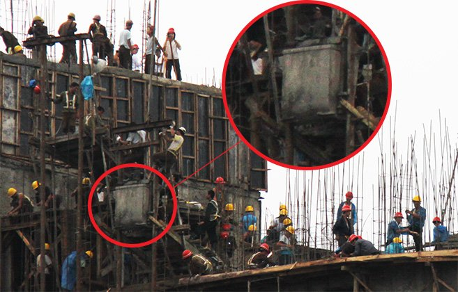 North Korea - Construction accident - health and safety