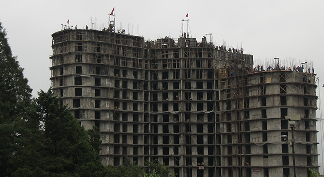 North Korea - Construction accident - shonky building