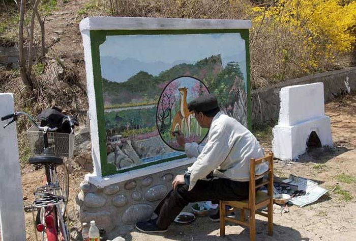 North Korea Rare Deleted Photos - painting