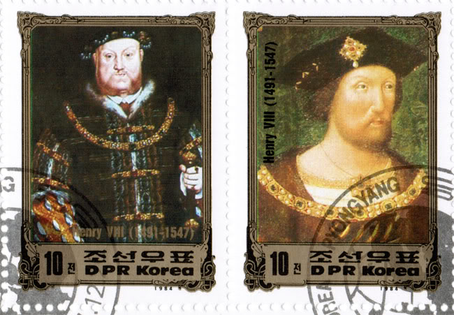 North Korean Stamps - Europe Success - King Henry VIII 2