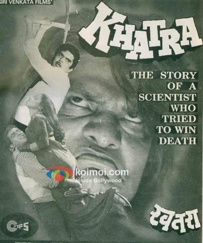 Old Indian Horror Bollywood Movie Posters - Khatra