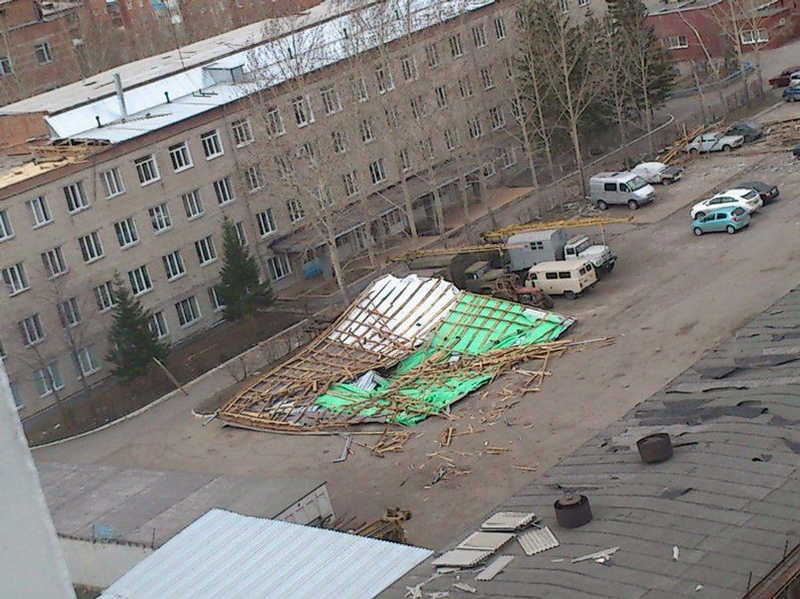 Omsk High Winds Russia - debris