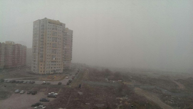 Omsk High Winds Russia - gloom
