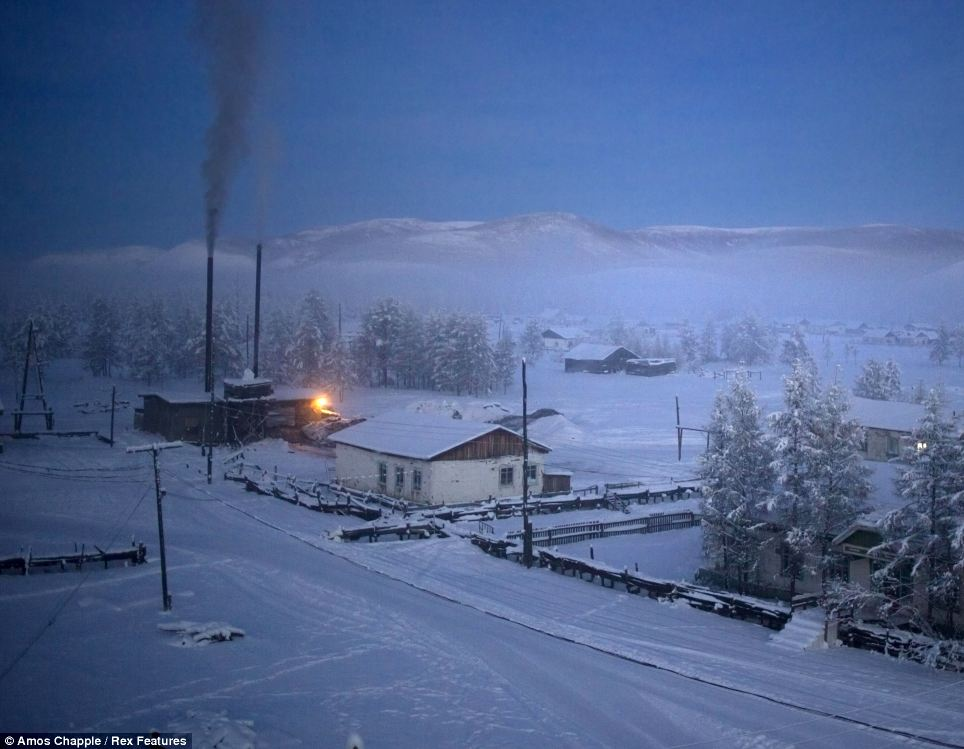 Oymyakon - coldest village town - Dawn
