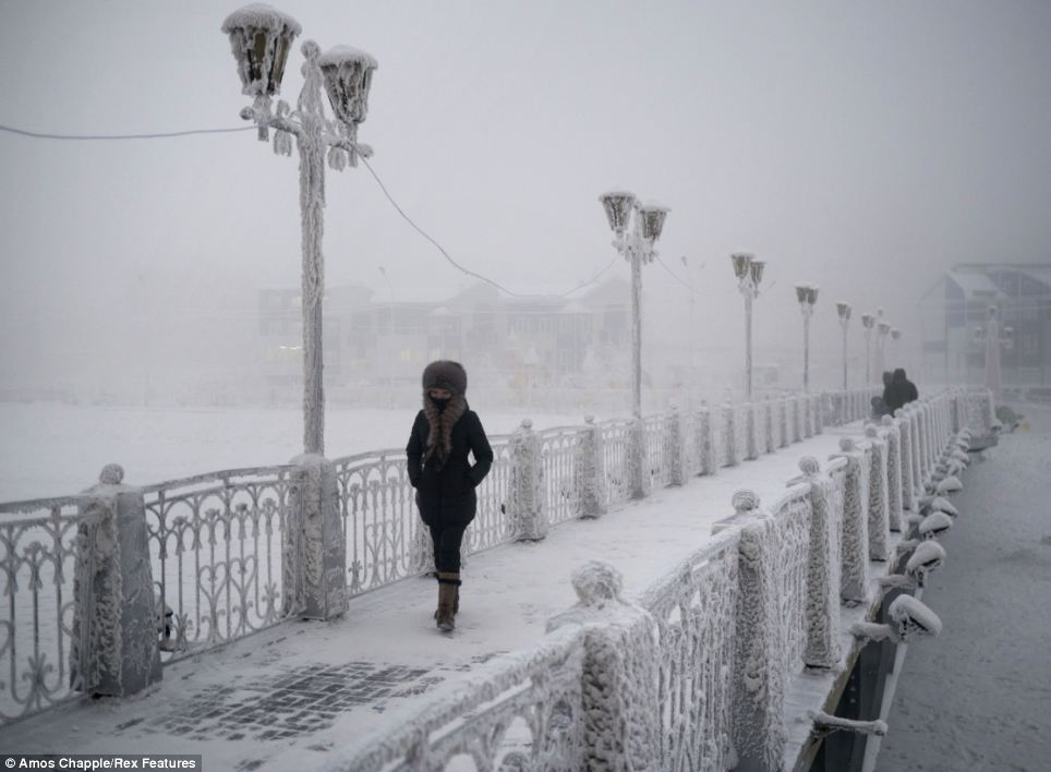 Oymyakon - coldest village town - Frozen Bridge