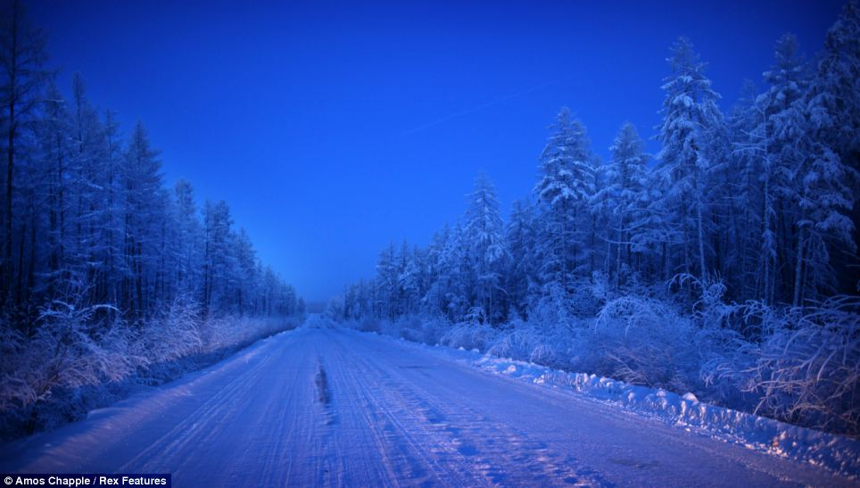 Oymyakon - coldest village town - road of bones