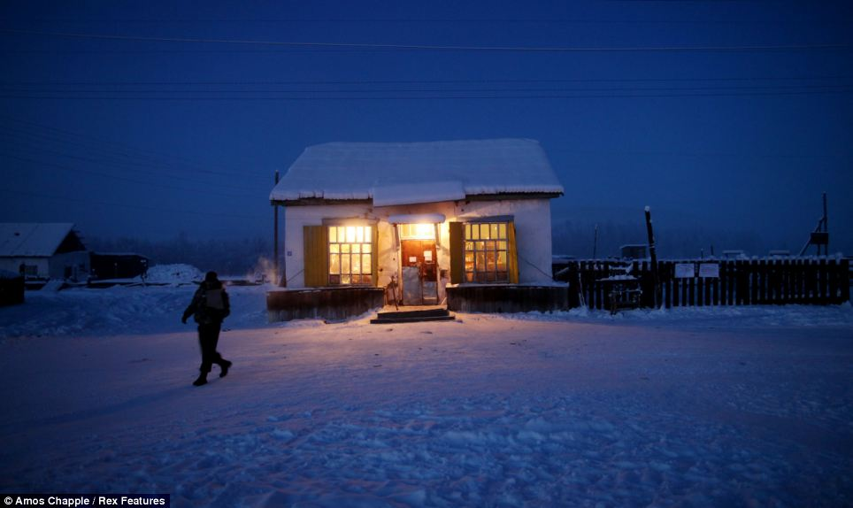 Oymyakon - coldest village town - shop