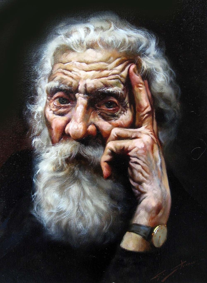 Painting Men With Beards - Gianni Strino