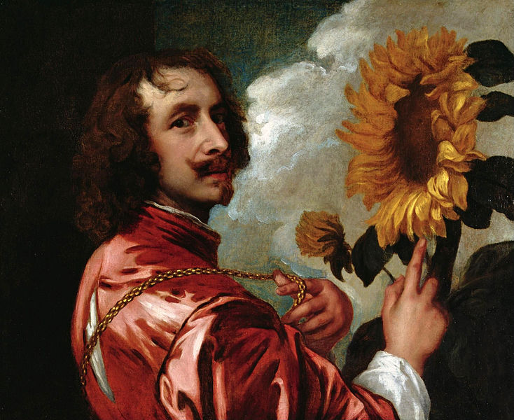 Paintings of Men With Beards - Flemish painter Anthony Van Dyck self portrait