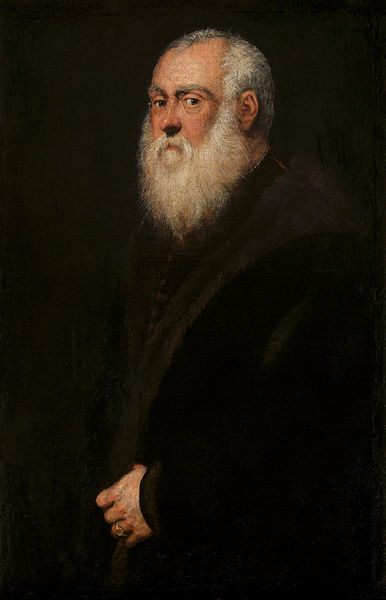 Paintings of Men With Beards - Jacopo Robusti called Tintoretto - Man with a White Beard