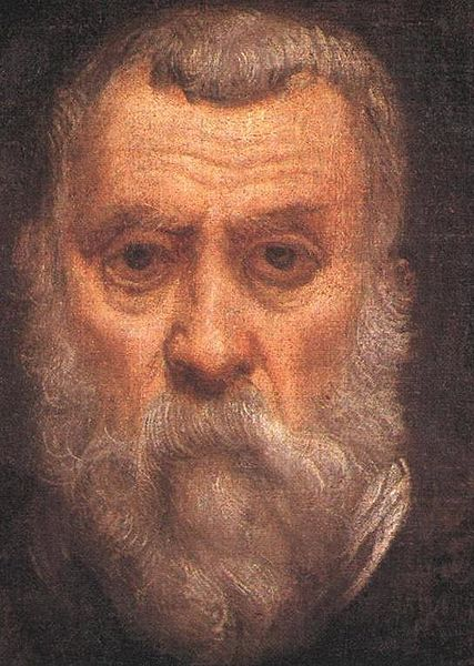 Paintings of Men With Beards - Jacopo Robusti self portrait