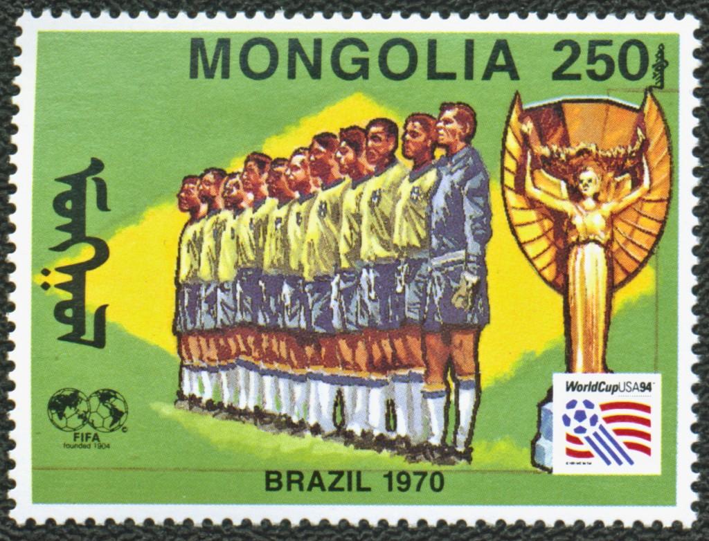 Stamp Mongolia - Brazil 1970