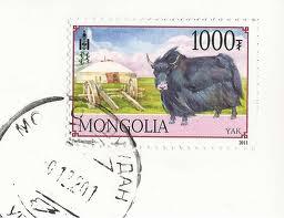Stamp Mongolia - Yak