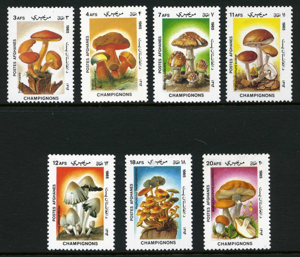 Strange Stamps - Fungus - Afghanistan