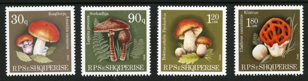 Strange Stamps - Fungus - Albania