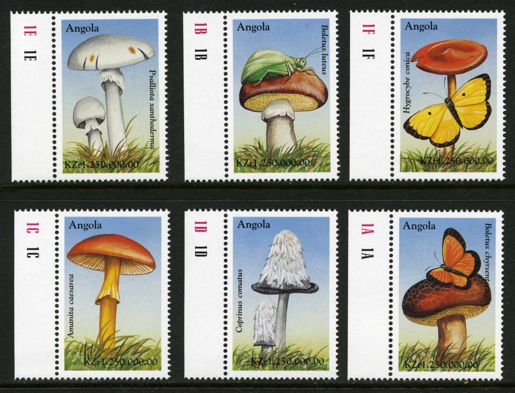 Strange Stamps - Fungus - Angola