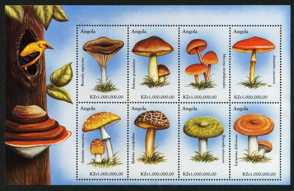 Strange Stamps - Fungus - Angola oriole