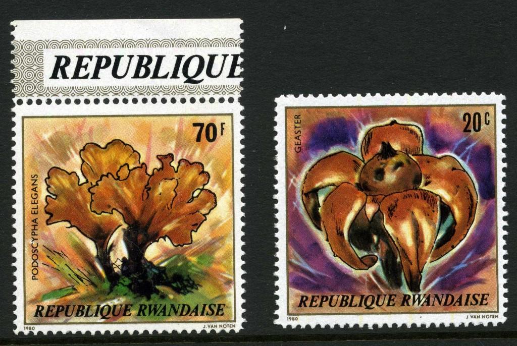 Strange Stamps - Fungus - Rwanda