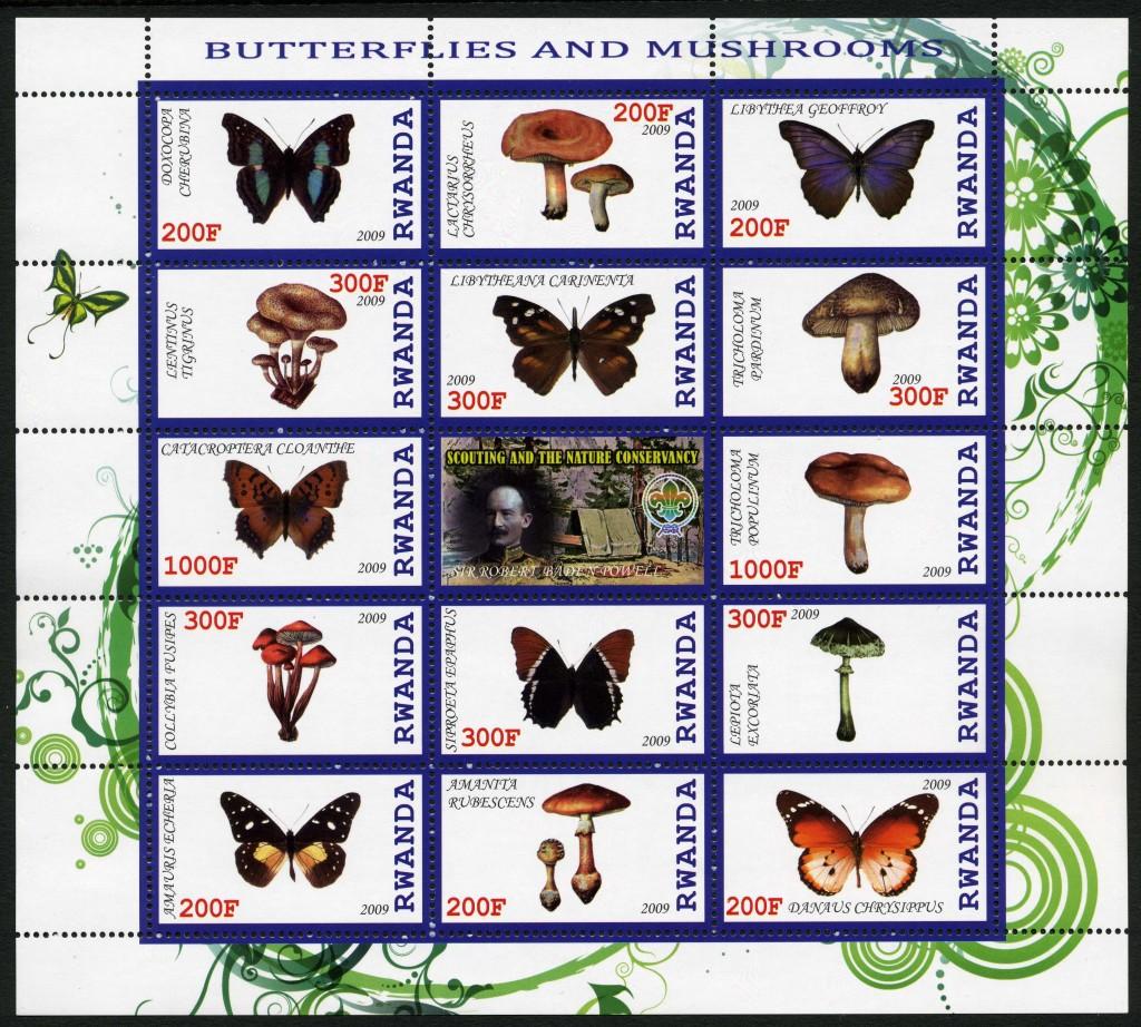 Strange Stamps - Fungus - Rwanda 2