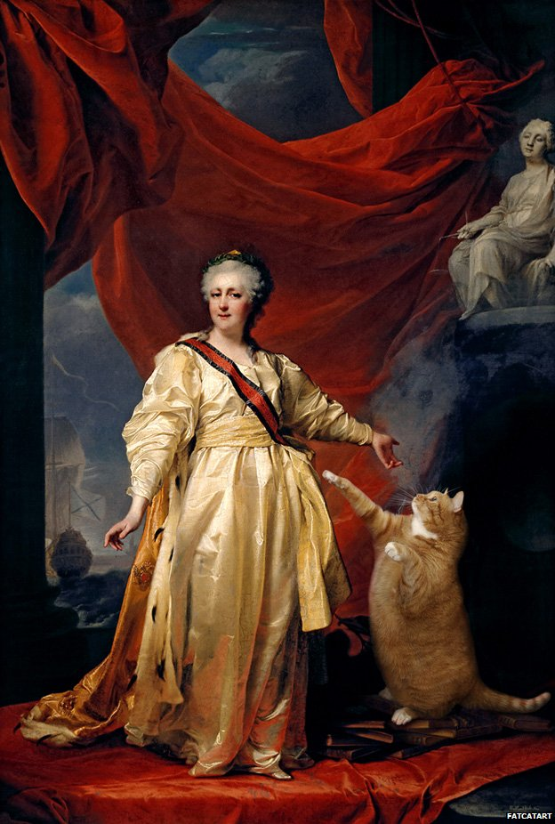 Svetlana Petrova Zarathustra - Cat Paintings Catherine II