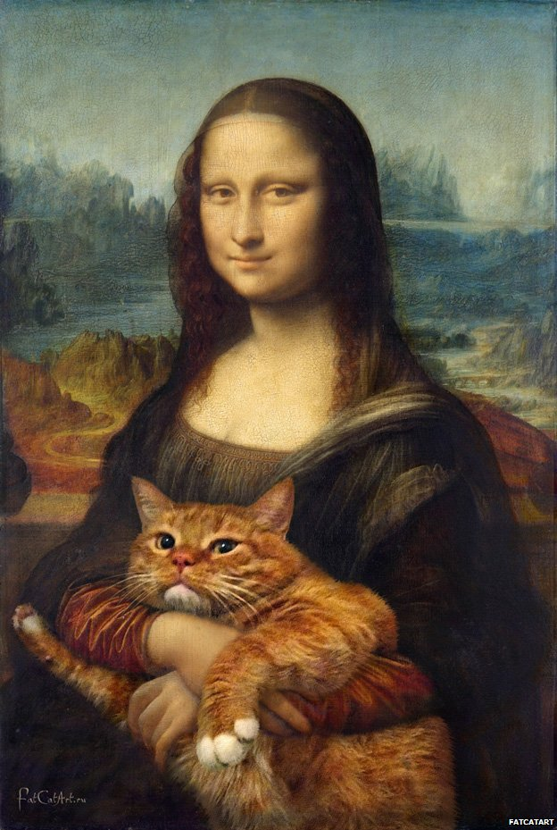 Svetlana Petrova Zarathustra - Cat Paintings Mona Lisa