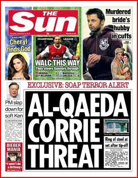 The Sun - Stupid Headlines - Al Quaeda Corrie