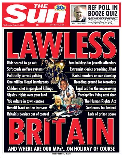 The Sun - Stupid Headlines - Lawless Britain