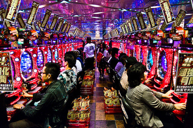 Pachinko Gambling Japan - neon