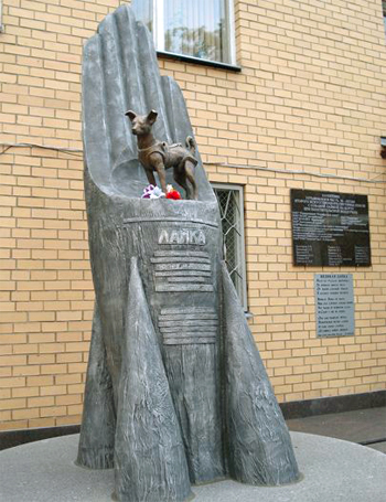 Animals in space - Laika space monument