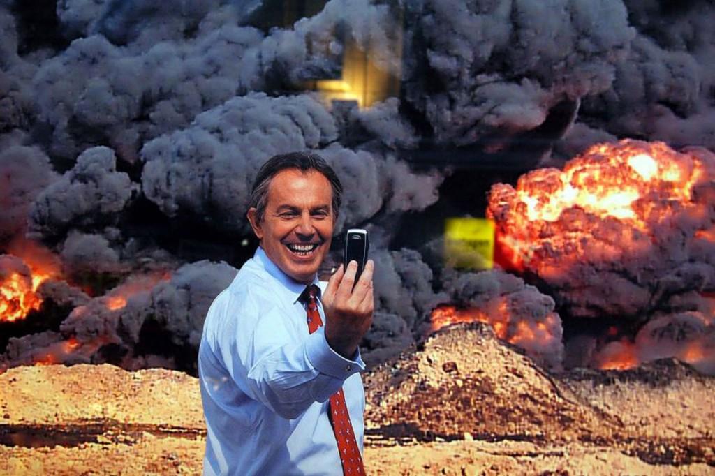 Arrest Tony Blair - explosion selfie