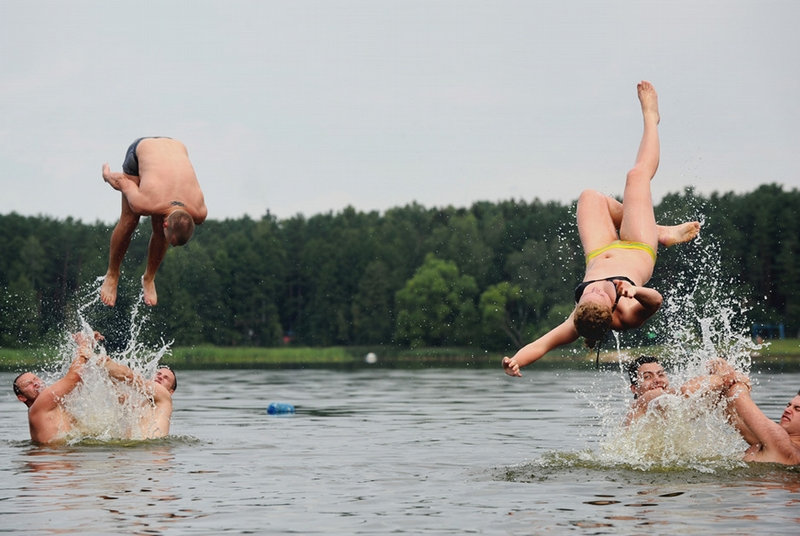 Belarus Village Life - water fun