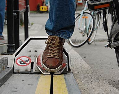 Bicycle Lift - Trampe - CycloCable - foot plate