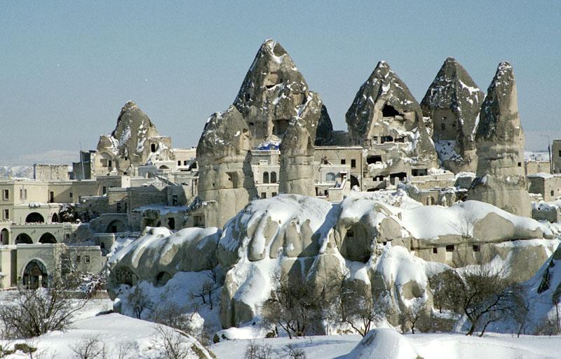 Cappadocia - Turkey Rock Formations - Göreme winter